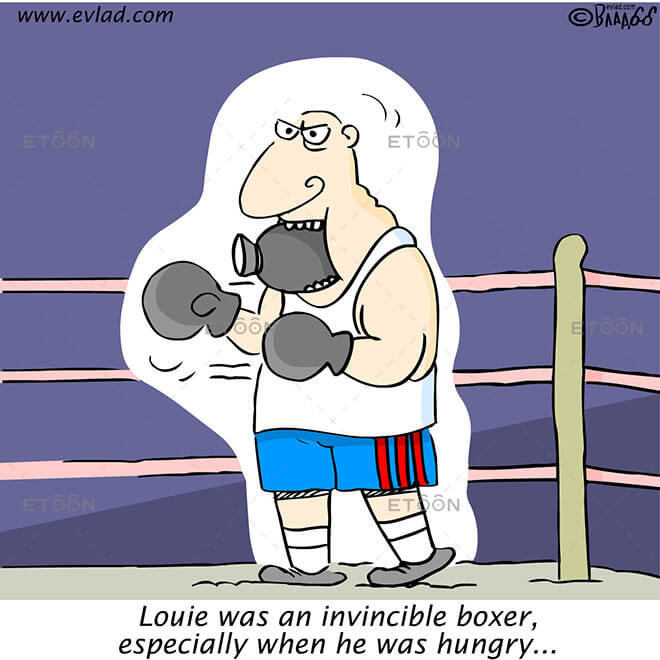 Louie was an invincible boxer...: eToon cartoon for newsletters, presentations, websites, books and more
