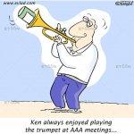 Ken always enjoyed playing the trumpet…