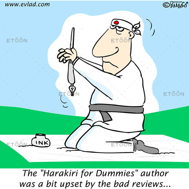The Harakiri for Dummies author was...: eToon cartoon for newsletters, presentations, websites, books and more