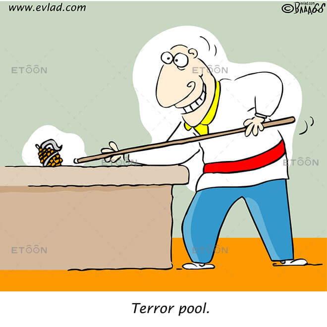 Terror pool.: eToon cartoon for newsletters, presentations, websites, books and more