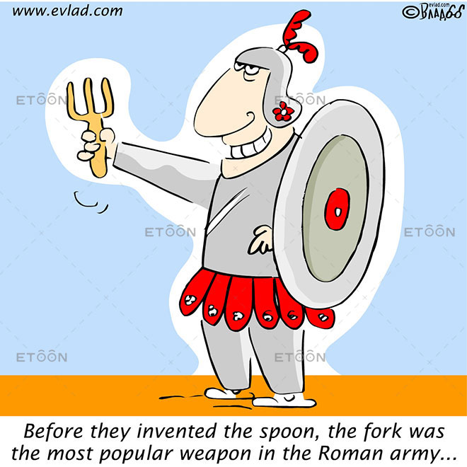 Before they invented the spoon...: eToon cartoon for newsletters, presentations, websites, books and more