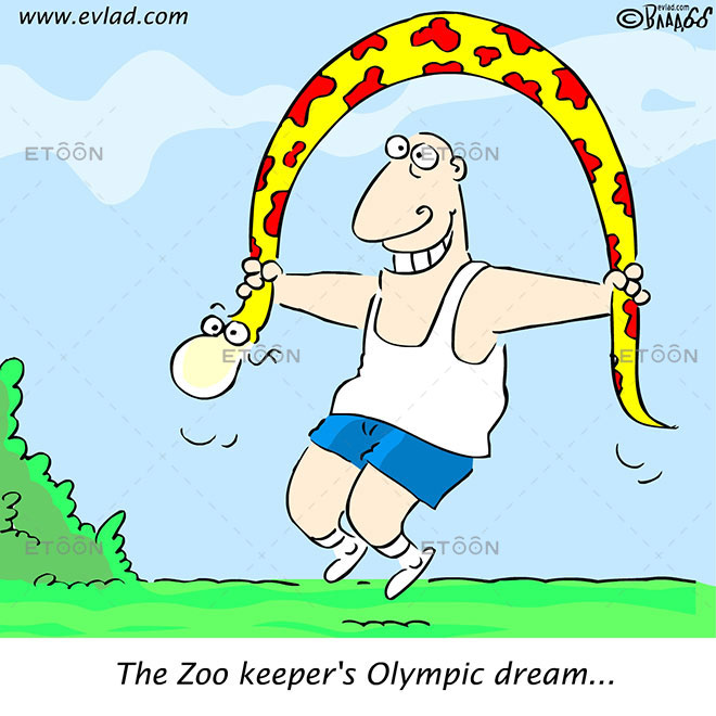 The Zoo keepers Olympic dream...: eToon cartoon for newsletters, presentations, websites, books and more