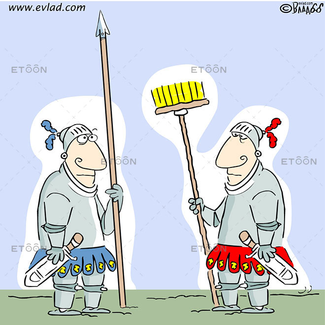 Two knights: eToon cartoon for newsletters, presentations, websites, books and more