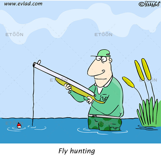 Fly hunting: eToon cartoon for newsletters, presentations, websites, books and more