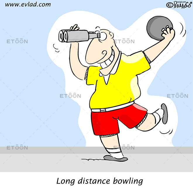 Long distance bowling: eToon cartoon for newsletters, presentations, websites, books and more