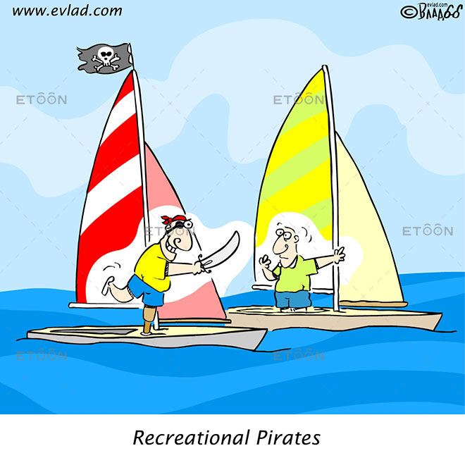 Recreational Pirates: eToon cartoon for newsletters, presentations, websites, books and more