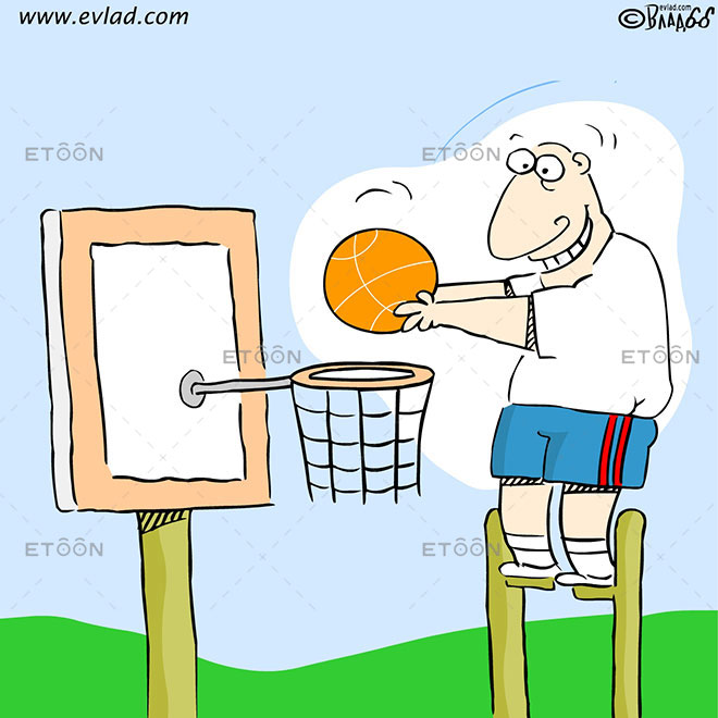 Basketball player: eToon cartoon for newsletters, presentations, websites, books and more