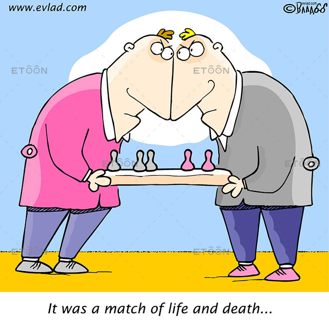 It was a match of life and death...: eToon cartoon for newsletters, presentations, websites, books and more
