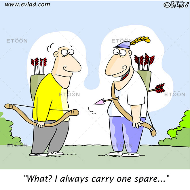 What? I always carry one spare...: eToon cartoon for newsletters, presentations, websites, books and more