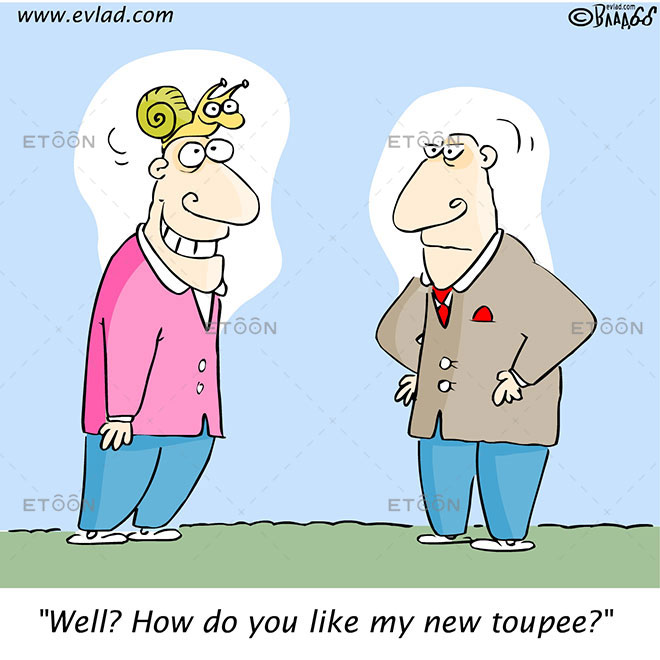 Well? How do you like my new toupee?: eToon cartoon for newsletters, presentations, websites, books and more