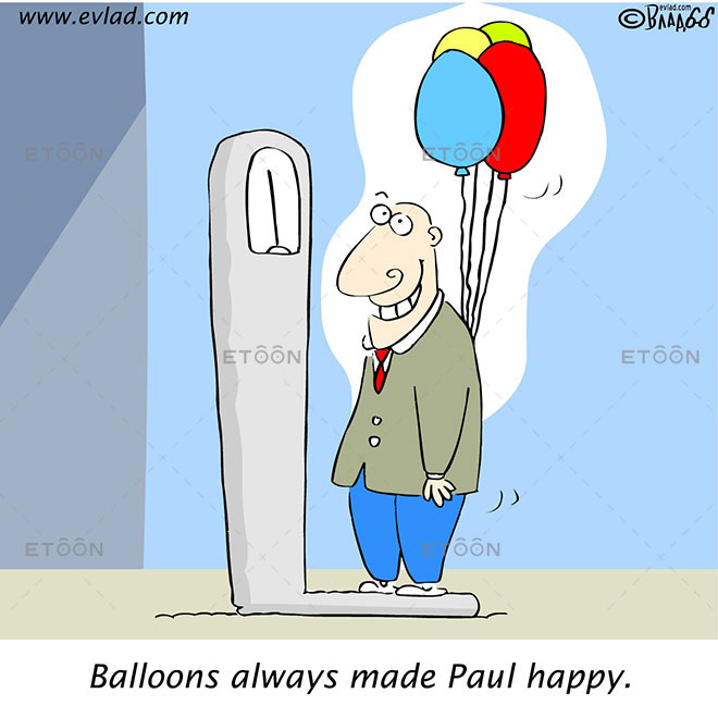 Men with balloons...: eToon cartoon for newsletters, presentations, websites, books and more