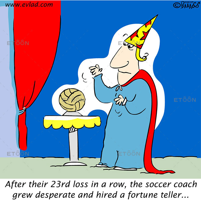 After their 23rd loss in a row ...: eToon cartoon for newsletters, presentations, websites, books and more