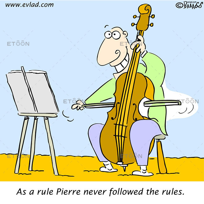 As a rule Pierre never followed the rules.: eToon cartoon for newsletters, presentations, websites, books and more