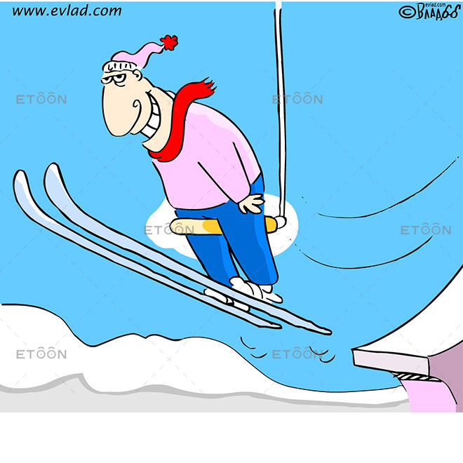 Ski jump: eToon cartoon for newsletters, presentations, websites, books and more