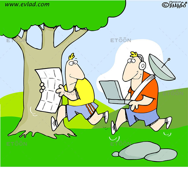 Team building, Adventure Race and Orienteering: eToon cartoon for newsletters, presentations, websites, books and more