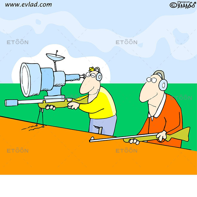 Target shooting: eToon cartoon for newsletters, presentations, websites, books and more