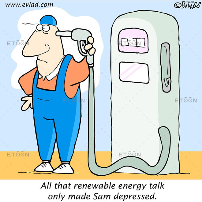All that renewable energy talk...: eToon cartoon for newsletters, presentations, websites, books and more