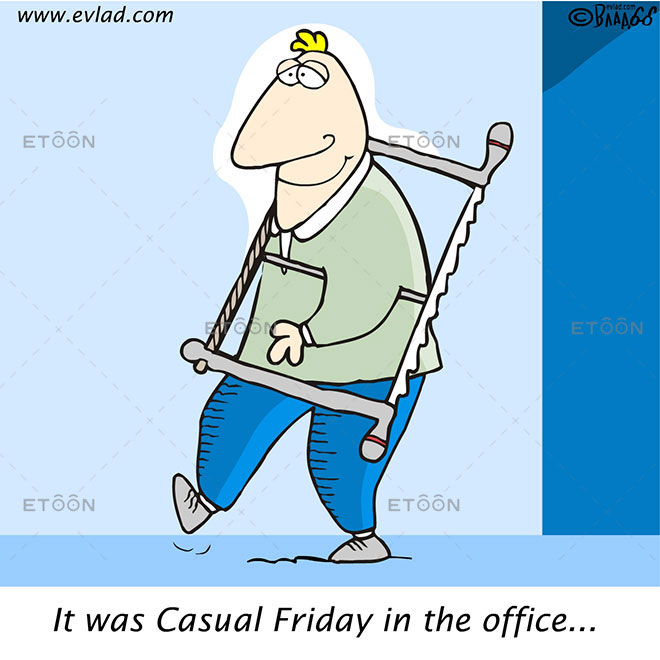 It was Casual Friday in the office...: eToon cartoon for newsletters, presentations, websites, books and more