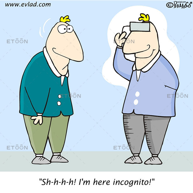 Sh h h h! Im here incognito!: eToon cartoon for newsletters, presentations, websites, books and more