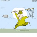 Man trying to catch a rocket grenade…