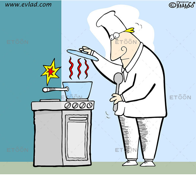 A cook: eToon cartoon for newsletters, presentations, websites, books and more