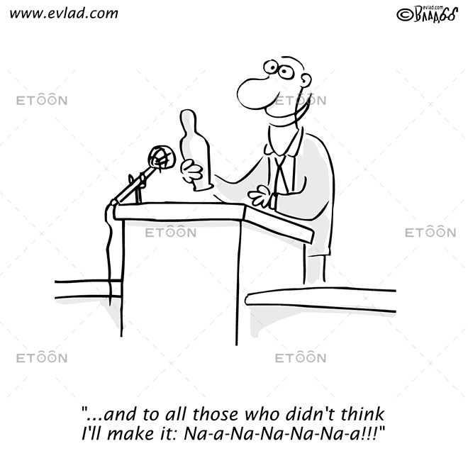 Man delivering speech...: eToon cartoon for newsletters, presentations, websites, books and more
