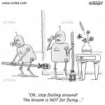 Two robots cleaning a house and fooling around…