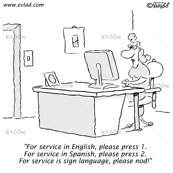 Woman in an office...: eToon cartoon for newsletters, presentations, websites, books and more