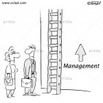 Man and woman in front of a ladder: Management