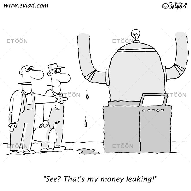 See? Thats my money leaking!: eToon cartoon for newsletters, presentations, websites, books and more