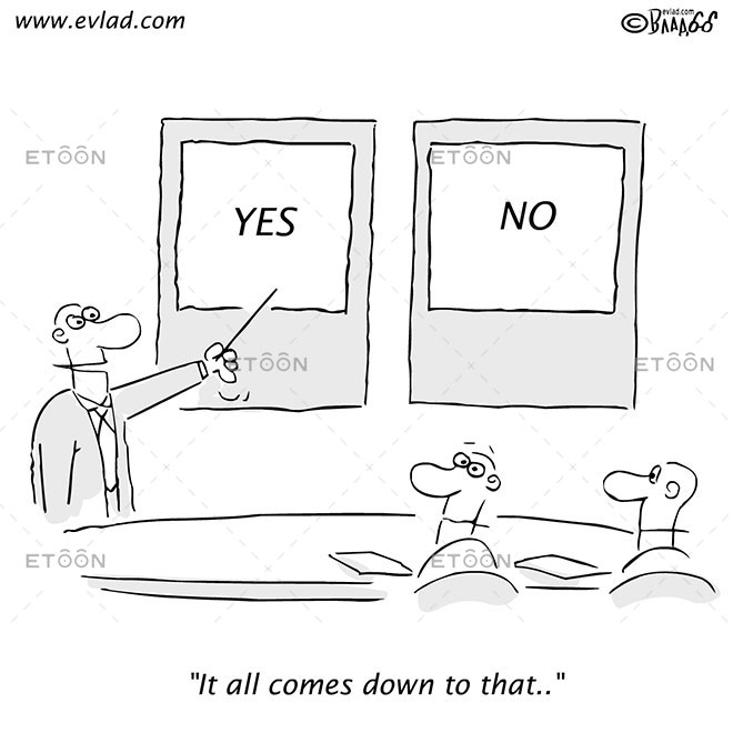 It all comes down to that..: eToon cartoon for newsletters, presentations, websites, books and more