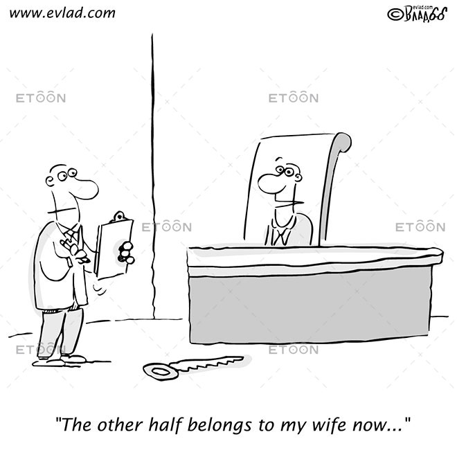 The other half belongs to my wife now...: eToon cartoon for newsletters, presentations, websites, books and more