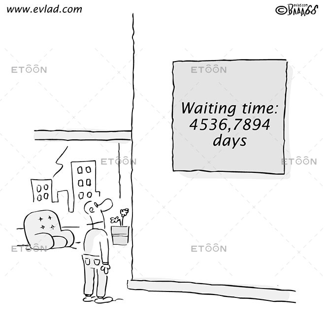 Waiting time: 4536,7894 days: eToon cartoon for newsletters, presentations, websites, books and more