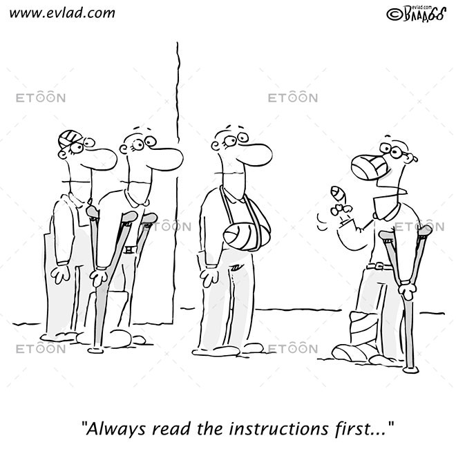 Always read the instructions first...: eToon cartoon for newsletters, presentations, websites, books and more