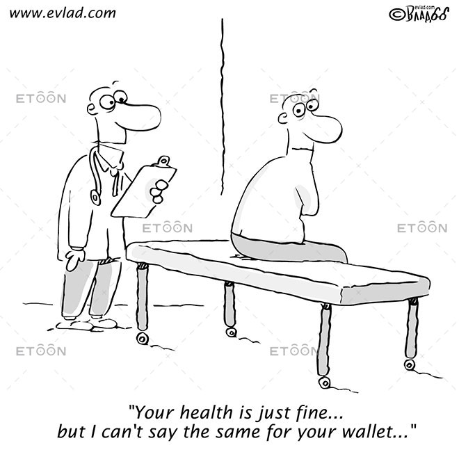 Your health is just fine...: eToon cartoon for newsletters, presentations, websites, books and more