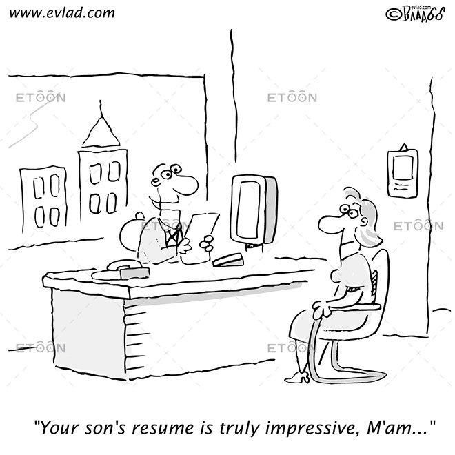 Your sons resume is truly impressive, Mam...: eToon cartoon for newsletters, presentations, websites, books and more