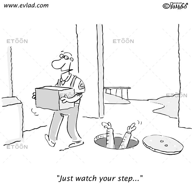 Just watch your step...: eToon cartoon for newsletters, presentations, websites, books and more