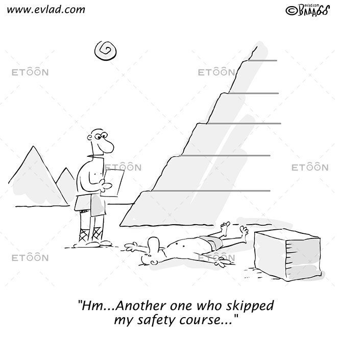 Hm... Another one who skipped my safety course...: eToon cartoon for newsletters, presentations, websites, books and more