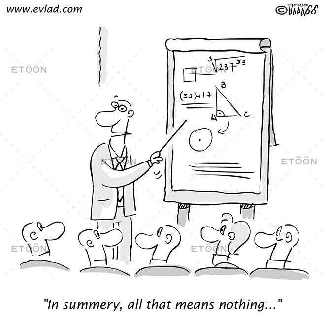 In summary, all that means nothing...: eToon cartoon for newsletters, presentations, websites, books and more