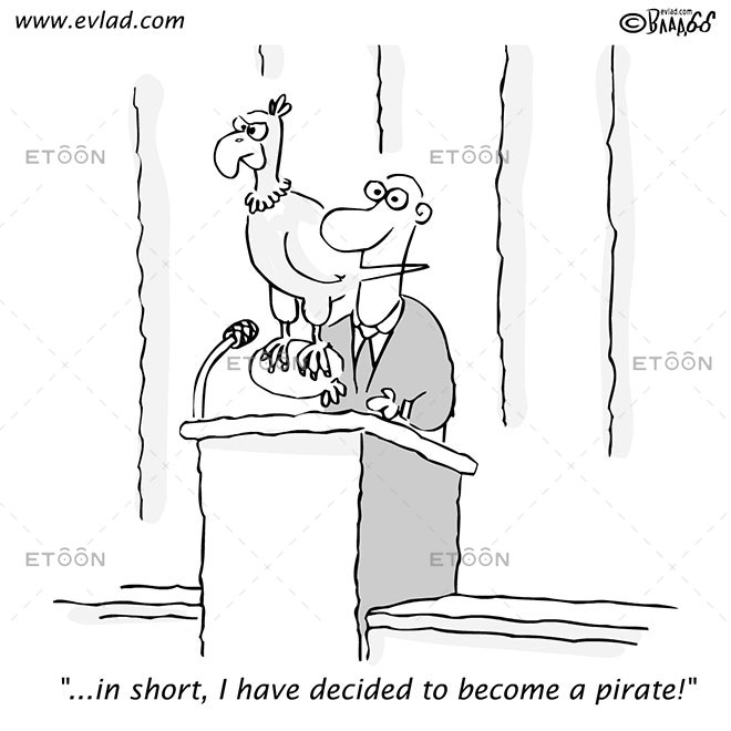 ...in short, I have decided to become a pirate!: eToon cartoon for newsletters, presentations, websites, books and more