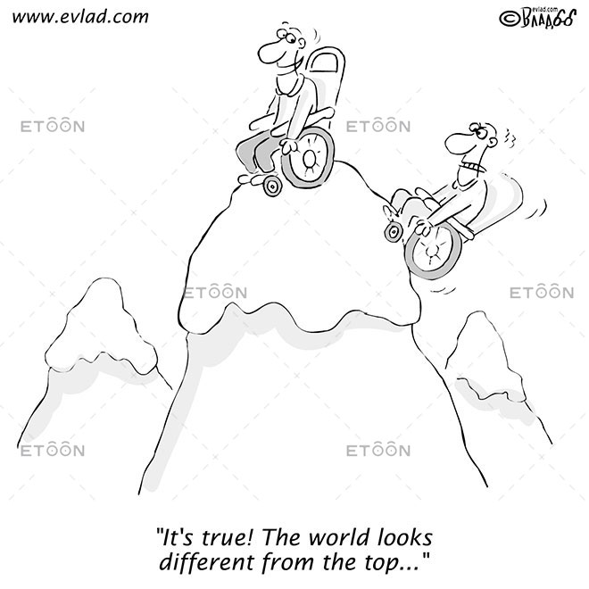 Its true! The world looks different from the top...: eToon cartoon for newsletters, presentations, websites, books and more