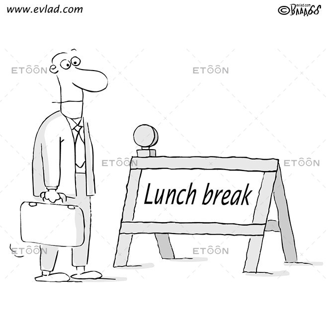 Lunch break: eToon cartoon for newsletters, presentations, websites, books and more