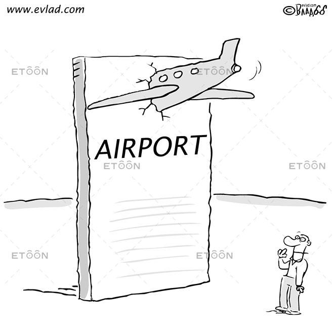 AIRPORT: eToon cartoon for newsletters, presentations, websites, books and more