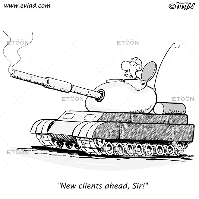 New clients ahead, Sir!: eToon cartoon for newsletters, presentations, websites, books and more