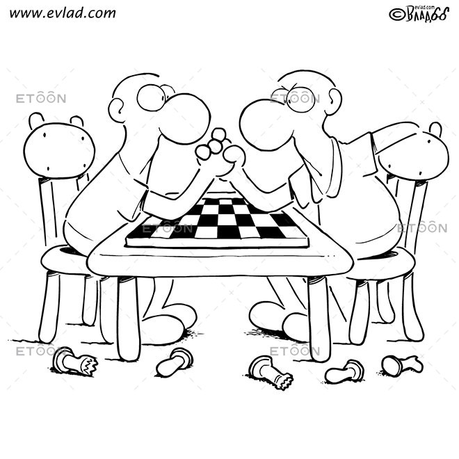 Chess match: eToon cartoon for newsletters, presentations, websites, books and more