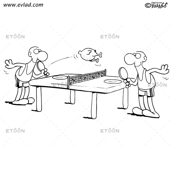 Table tennis: eToon cartoon for newsletters, presentations, websites, books and more