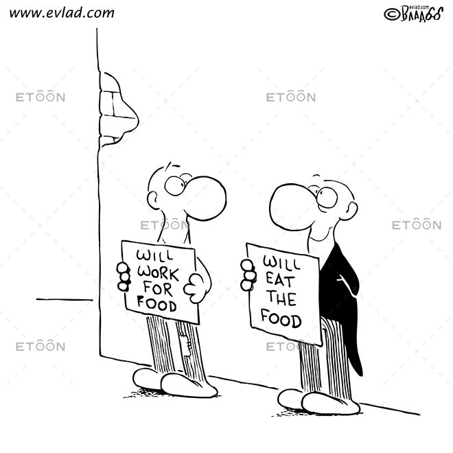 Will work for food: eToon cartoon for newsletters, presentations, websites, books and more