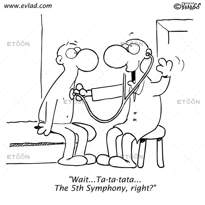 Wait...Ta ta tata... The 5th Symphony, right?: eToon cartoon for newsletters, presentations, websites, books and more