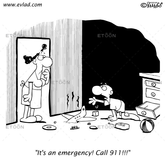 Its an emergency! Call 911!!!: eToon cartoon for newsletters, presentations, websites, books and more