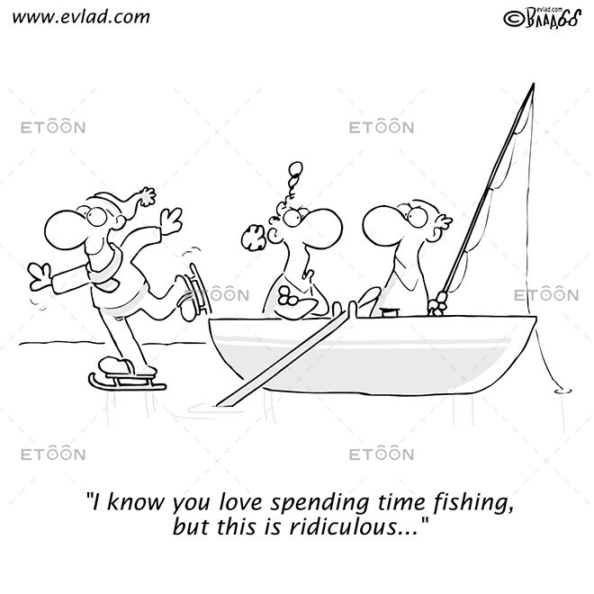 I know you love spending time fishing...: eToon cartoon for newsletters, presentations, websites, books and more